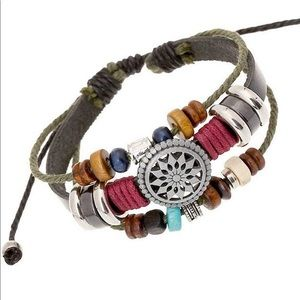 Bohemia Beaded Bracelet, Hemp Cords Wrap Bracelet